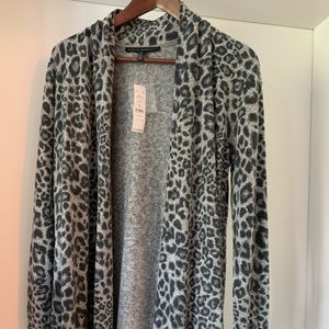 NWT leopard print cardigan.